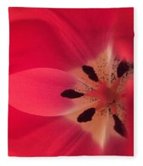 Macro Beauty Tulip Fleece Blanket
