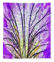 Macro Iris Petal Fleece Blanket