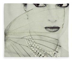 Madam Butterfly - Maria Callas  Fleece Blanket