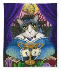 Madame Zoe Teller Of Fortunes - Queen Of Cups Fleece Blanket