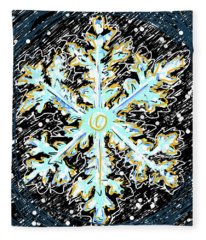 Madeline Snowflake Fleece Blanket