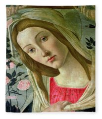 Madonna And Child Crowned By Angels Fleece Blanket