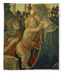 Madonna And Child With St. John The Baptist Fleece Blanket