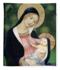 Madonna Of The Fir Tree Fleece Blanket