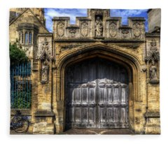 Magdalen College Door - Oxford Fleece Blanket