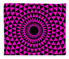 Magenta Balance Fleece Blanket