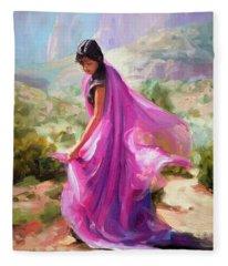 Magenta In Zion Fleece Blanket