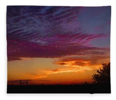 Magenta Morning Sky Fleece Blanket