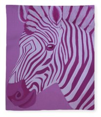 Magenta Zebra Fleece Blanket