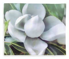 Magnolia Opening 2 Fleece Blanket