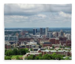 Magic City Skyline Fleece Blanket