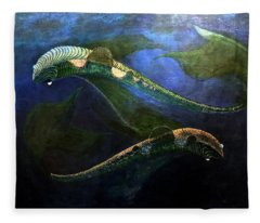 Magic Fish Fleece Blanket
