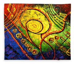 Magic Guitar Fleece Blanket