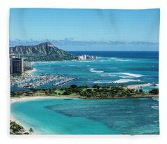 Magic Island To Diamond Head Fleece Blanket
