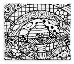 Magic Mushroom Tangle Fleece Blanket