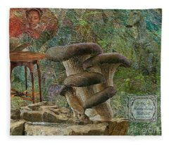 Magic Mushrooms Fleece Blanket