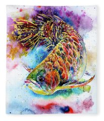 Magic Of Arowana Fleece Blanket