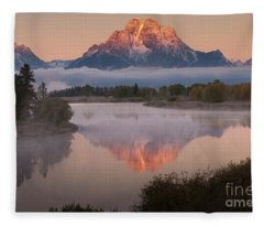 Magic Of Dawn At Oxbow  Bend Fleece Blanket