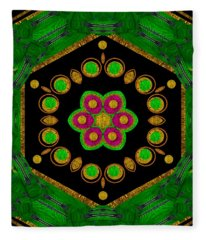 Magic Of Life A Orchid Mandala So Bright Fleece Blanket
