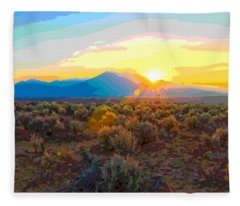Magic Over Taos Fleece Blanket