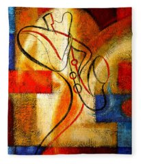 Magic Saxophone Fleece Blanket