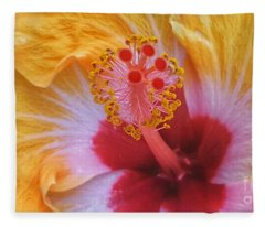 Magical Hibiscus  Fleece Blanket