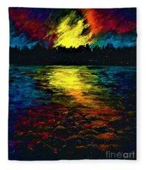 Magical Sunset  Fleece Blanket