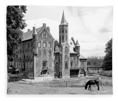 Magical Wissekerke Castle - Bazel, Belgium Fleece Blanket