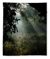 Magical Woodland Lighting 02 Fleece Blanket