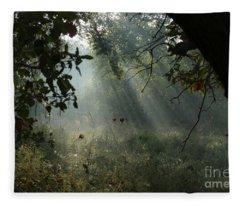 Magical Woodland Lighting Fleece Blanket