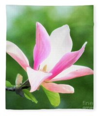 Magnificent Daybreak Magnolia At Day's End Fleece Blanket