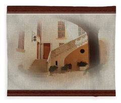 Magnificent Mexican Hacienda Fleece Blanket