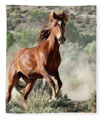 Magnificent Mustang Wildness Fleece Blanket