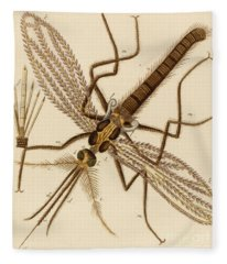 Magnified Mosquito Fleece Blanket