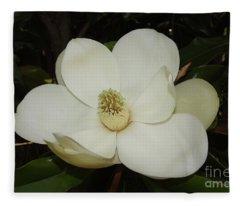 Magnolia Blossom 5 Fleece Blanket