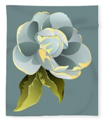 Magnolia Blossom Graphic Fleece Blanket