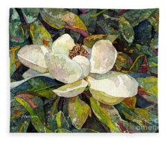 Magnolia Blossom Fleece Blanket