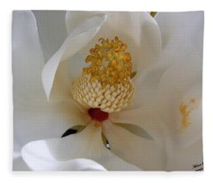 Magnolia Happiness Fleece Blanket