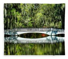Magnolia Plantation Bridge - Charleston Sc Fleece Blanket