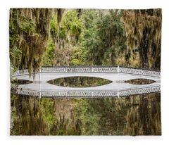 Magnolia Plantation Gardens Bridge Fleece Blanket