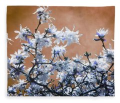 Magnolia Sky In Amber Fleece Blanket