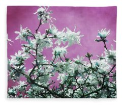Magnolia Sky In Pink Fleece Blanket