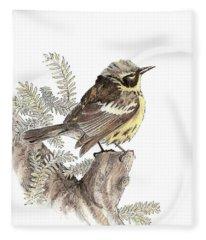 Magnolia Warbler Fleece Blanket