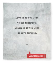 Mahatma Gandhi Quotes 1 - Literary Quotes - Book Lover Gifts - Typewriter Quotes Fleece Blanket