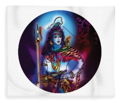 Maheshvara Shiva Fleece Blanket