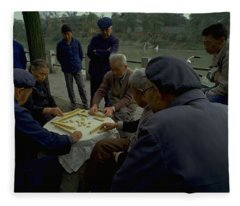 Mahjong In Guangzhou Fleece Blanket