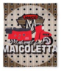 Maicoletta Scooter Advertising Fleece Blanket