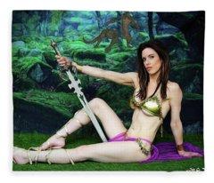 Maiden Of The Mystic Wood Fleece Blanket