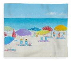 Main Beach East Hampton  Fleece Blanket