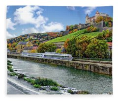 Main River Panorama Fleece Blanket